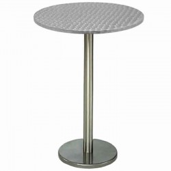 Cocktail Table with Stainless Round Leg and Table Top