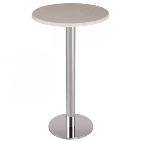 Stainless Rounded Leg Werzalit Table Top Bistro Table - ktm71