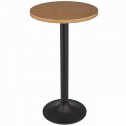 Black Leg Mdf Lam Table Top Bistro Cocktail Table
