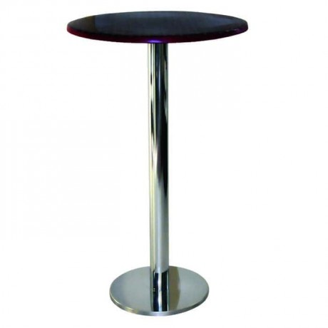 Cocktail Table with Venge Painted Stainless Leg - ktm73
