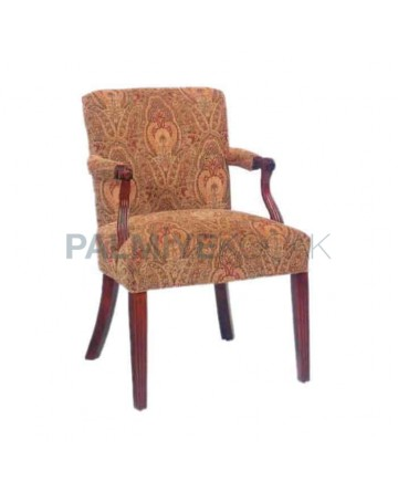 Cream Furnished Hotel Armchair