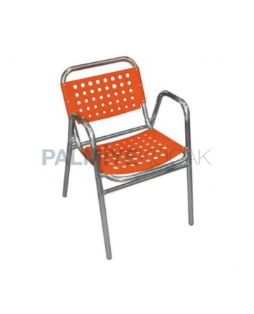 Plastic Honeycombed Aluminum Armchair