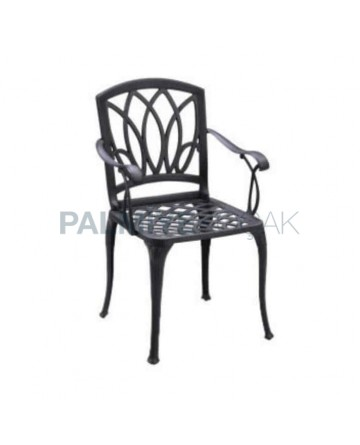 Armchair Restaurant Garden Aluminum Casting Chair