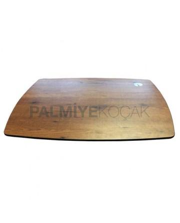 Oval Kesimli 12 mm Kompakt Masa Tablası