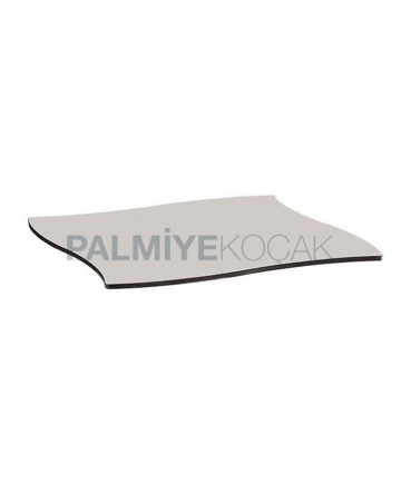 Shaped Cut White Compact Table Top