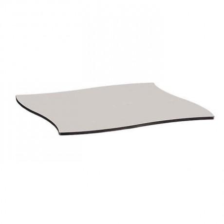 Şekilli Kesimli Beyaz Kompakt Masa Tablası - cmt949