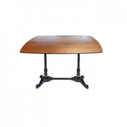 Aluminum Cast Leg Compact Table for four