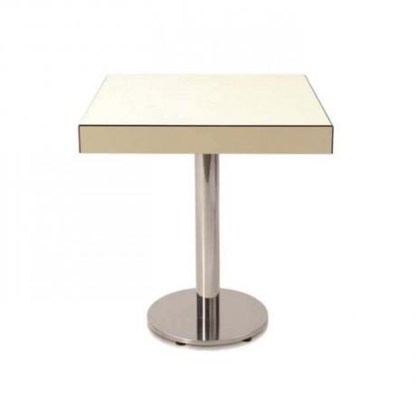 Beyaz Kompakt Renkli Metal Ayaklı Masa - cmp973