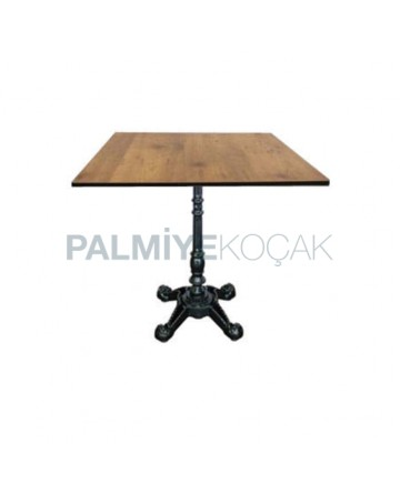 Compact Table with Iron Cast Leg