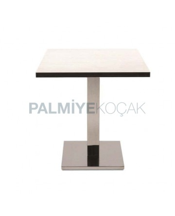 Square Compact Table Top Brown Table