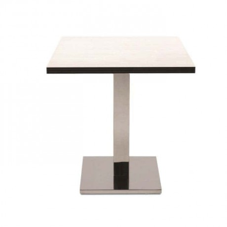 Square Compact Table Top Brown Table - cmp972