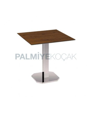 Compact Table Top Stainless Square Leg Cafe Table