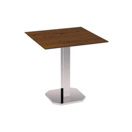Compact Table Top Stainless Square Leg Cafe Table - cmp948