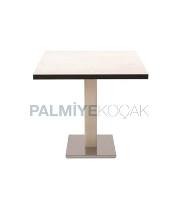 Stainless Steel Legs Compact Hotel Table