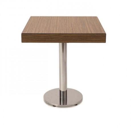 Yuvarlak Tabanlı Kalın Compact Tablalı Restoran Masası - cmp971