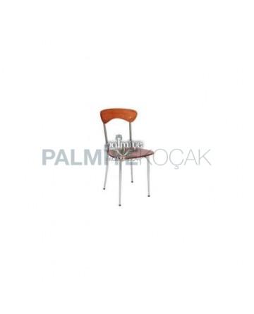 Monobloc Metal Chrome Chair