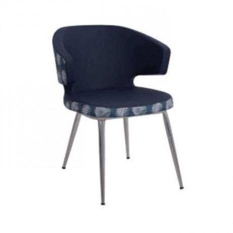 Koyu Gri Kumaş Döşemeli Kollu Poliüretan Metal Sandalye - psd268