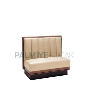 Cream Leather Upholstered Wooden Cedar