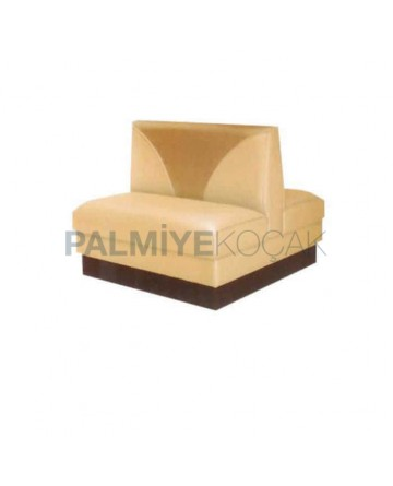 Cream Leather Double Sided Cafeteria Booths