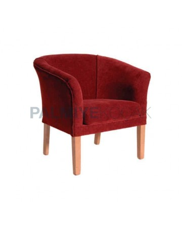 Fabric Upholstered Dining Room Armchair