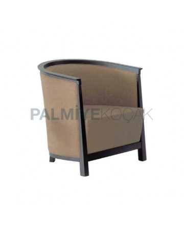Fabric Upholstered Wenge Painted Living Room Armchair
