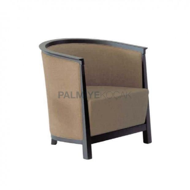 Kumaş Döşemeli Wenge Boyalı Salon Sandalyesi