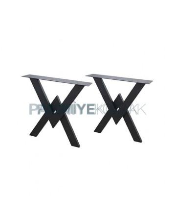 Triangle Shape Log Table Leg
