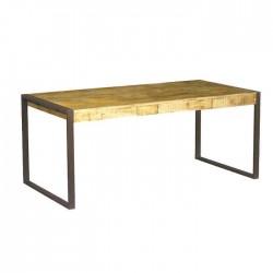 Iron Leg Wooden Log Hotel Restaurant Table
