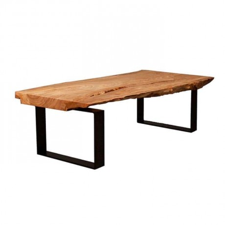 Natural Wooden Log Table Metal Leg - ktk9045