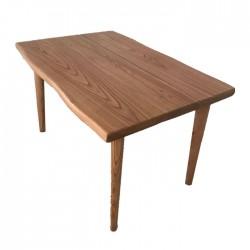 Economical 4-6 Person Turned Retro Leg Inexpensive Natural Log Table