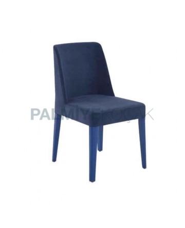 Lacivert Döşemeli Mavi Ayak Boyalı Poliüretan Sandalye