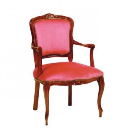Lukens Ayaklı Oymalı Klasik Kollu Restaurant Sandalyesi - ksak125