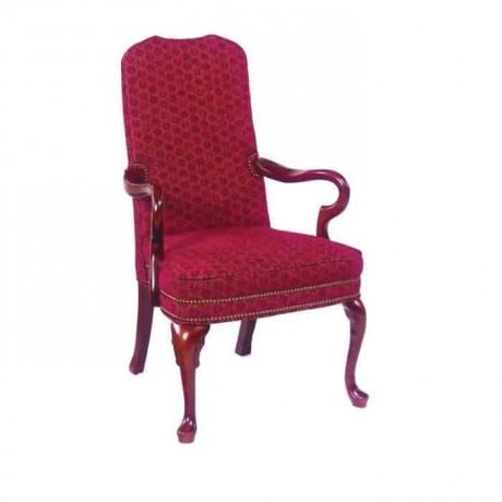 Lukens Ayaklı Oymalı Klasik Kollu Restaurant Sandalyesi - ksak40