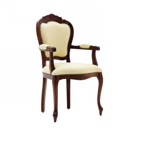 Lukens Oymalı Klasik Kollu Sandalye - ksak94