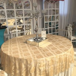 Gold Color Table Cloth