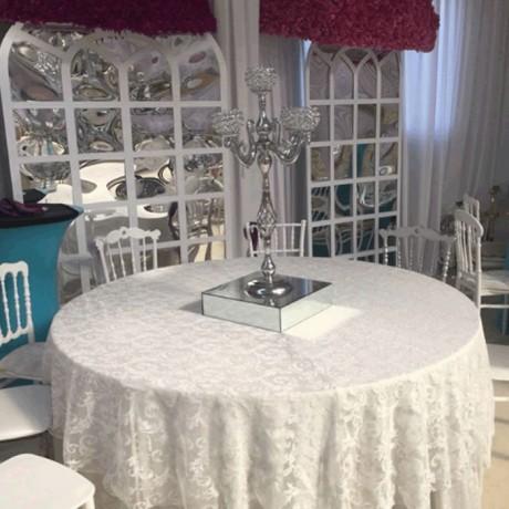Beyaz Düğün Salonu Banket Masa Örtüsü - mst5087