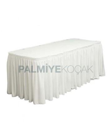 Beyaz Kumaşlı Banket Masası Örtüsü