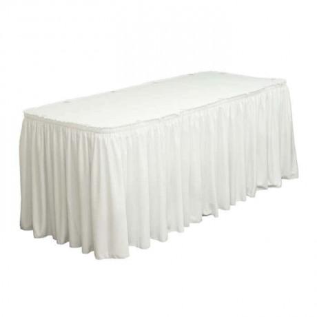 Beyaz Kumaşlı Banket Masası Örtüsü - mst5080