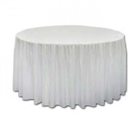 White Satin Fabric Organization Table Cloth - mst5006