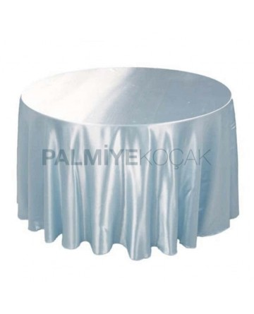 White Satin Round Banqueting Table Cloth