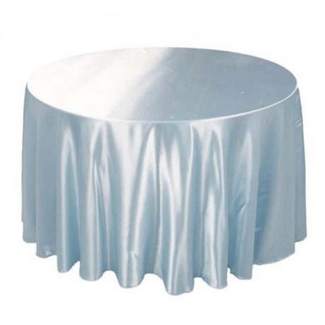 Beyaz Saten Yuvarlak Banket Masası Örtüsü - mst5001