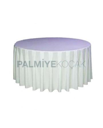 White Satin Round Table Cloth