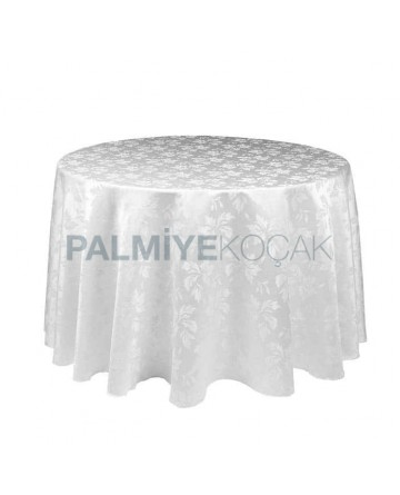Patterned Satin Fabric Round Table Cloth