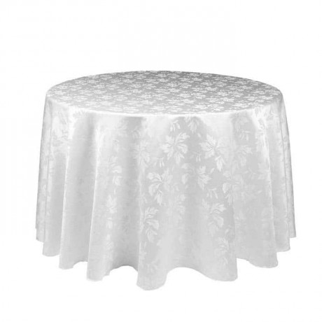 Patterned Satin Fabric Round Table Cloth - mst5004