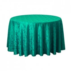 Patterned Turquoise Colorful Round Table Cloth