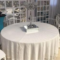 Plain White Wedding Hall Banquet Table Cloth
