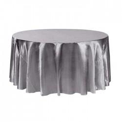 Gray Satin Fabric Wedding Hall Table