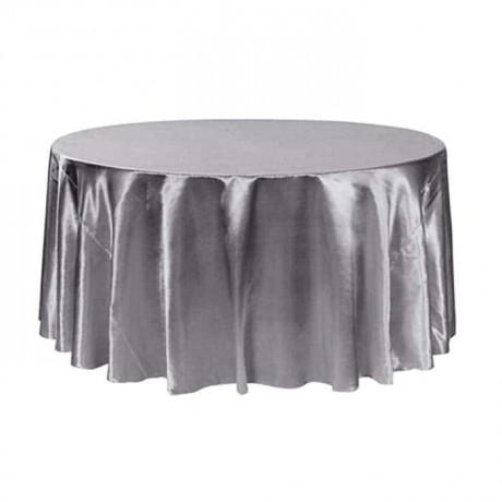 Gri Saten Kumaşlı Düğün Salonu Masası - mst5010