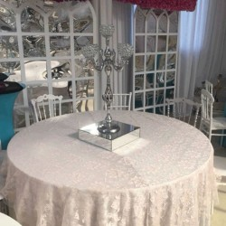 Cream Round Table Banquet Table Cloth
