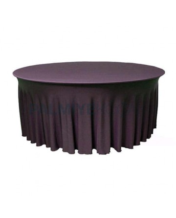 Rubbered Round Table Overlay